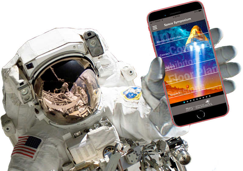Astronaut with App